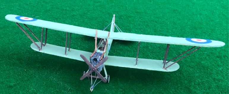 Model aircraft of a Royal Aircraft Factory RE7