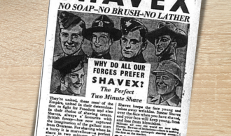Shavex: Advert from 1942