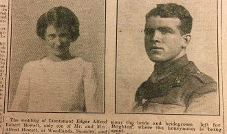 Wedding of Edgar Hewett and Miss Ethel may Harrington