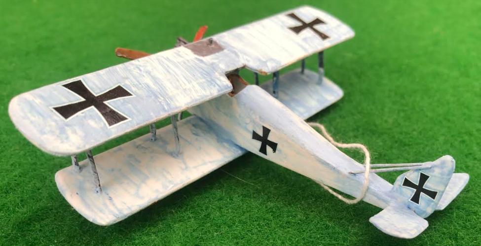 Scale model of the HALBERSTADT D.II aircraft