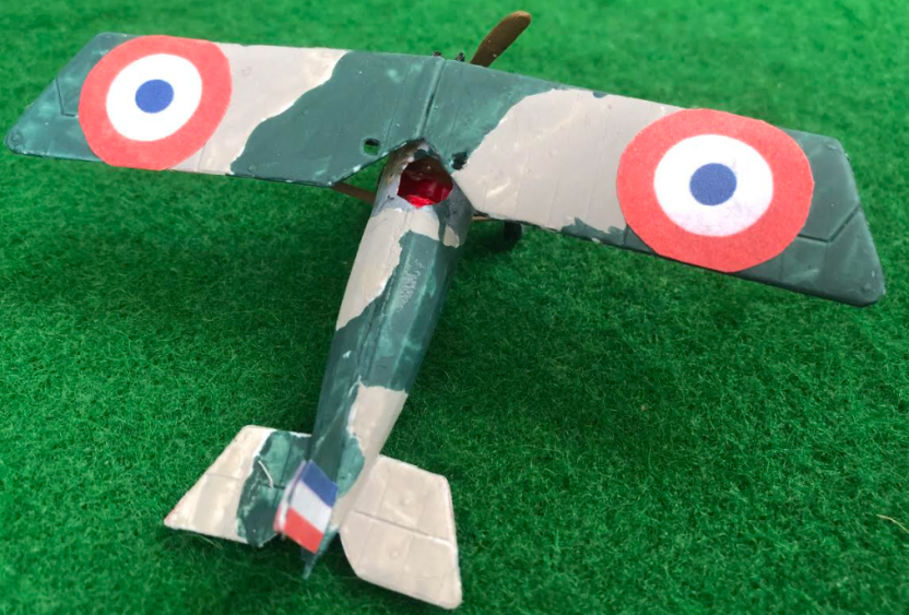 Scale model of the Morane-Saulnier A1 French aircraft