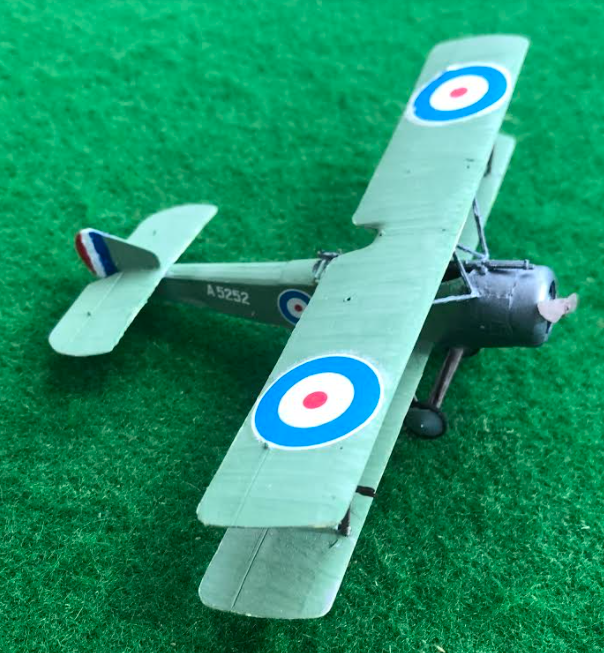 scale model of Sopwith 1 and a half strutter aircraft