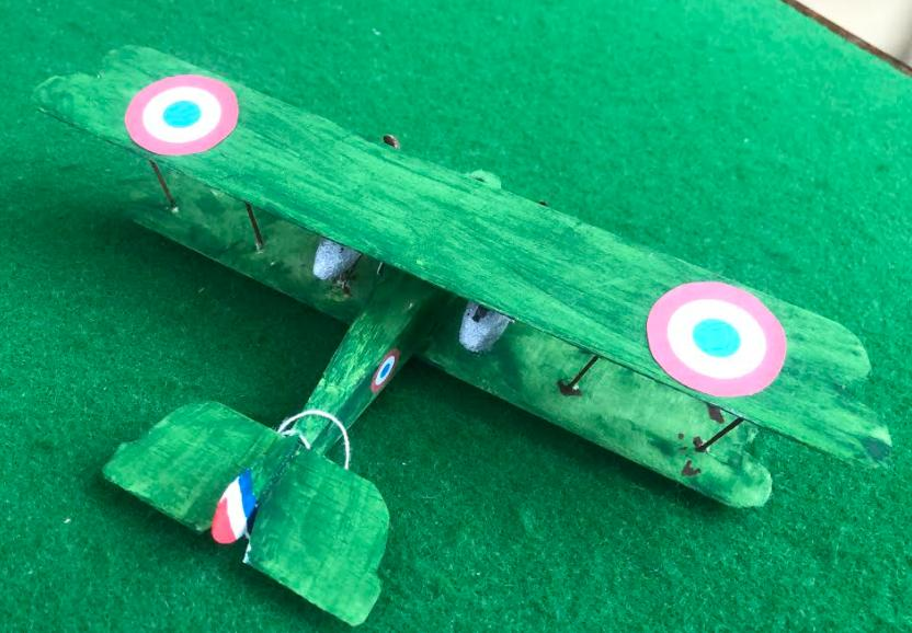 Scale model of the Adolphe Bernard AB aircraft