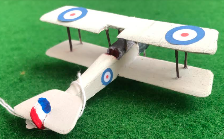 Scale model of the Bristol Scout a British aircraft used in during the first world war