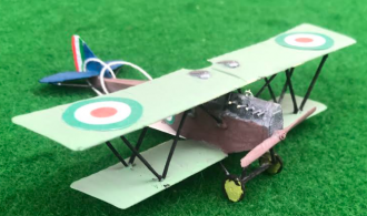scale model of the Ansaldo SVA5 Italian aircraft used in during the first world war