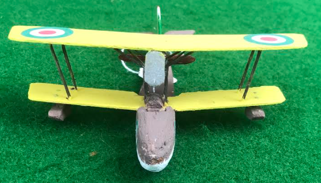 scale model of the Macchi M7 Italian aircraft used in during the first world war