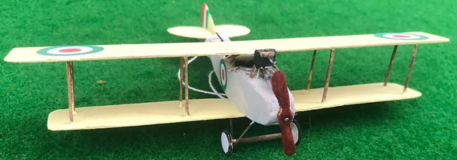 scale model of the Società Aeronautica Meccanica Lombarda S.2 Italian aircraft used in during the first world war