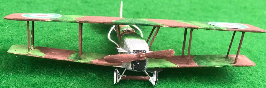 scale model of the Società Italiana Aviazione 7B Italian aircraft used in during the first world war