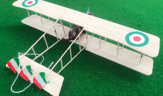 scale model of the Savoia-Pomilio SP.2 Italian aircraft used in during the first world war