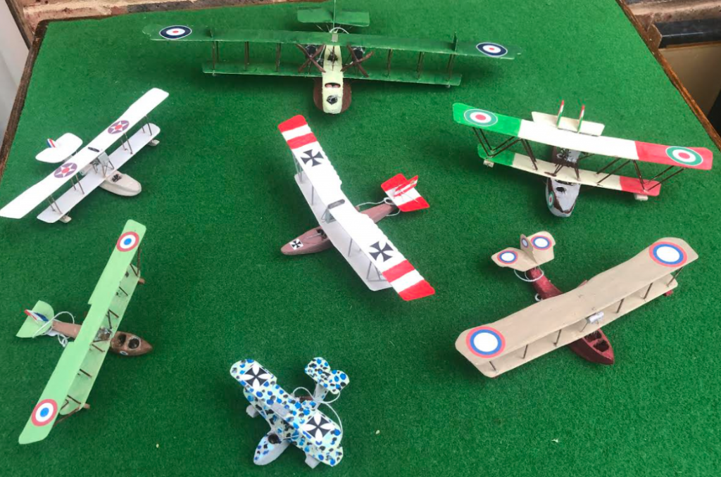 scale models of flyingboat aircraft from world war one